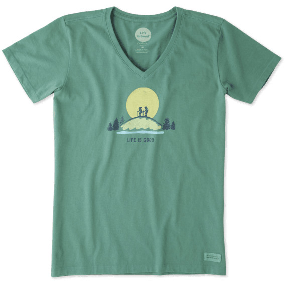 eeaab2eaa Life Is Good Vista Hike Crusher Tee Women's 54051-S, Color: Forest Green,  Womens Clothing Size: Small, Gender: Female,