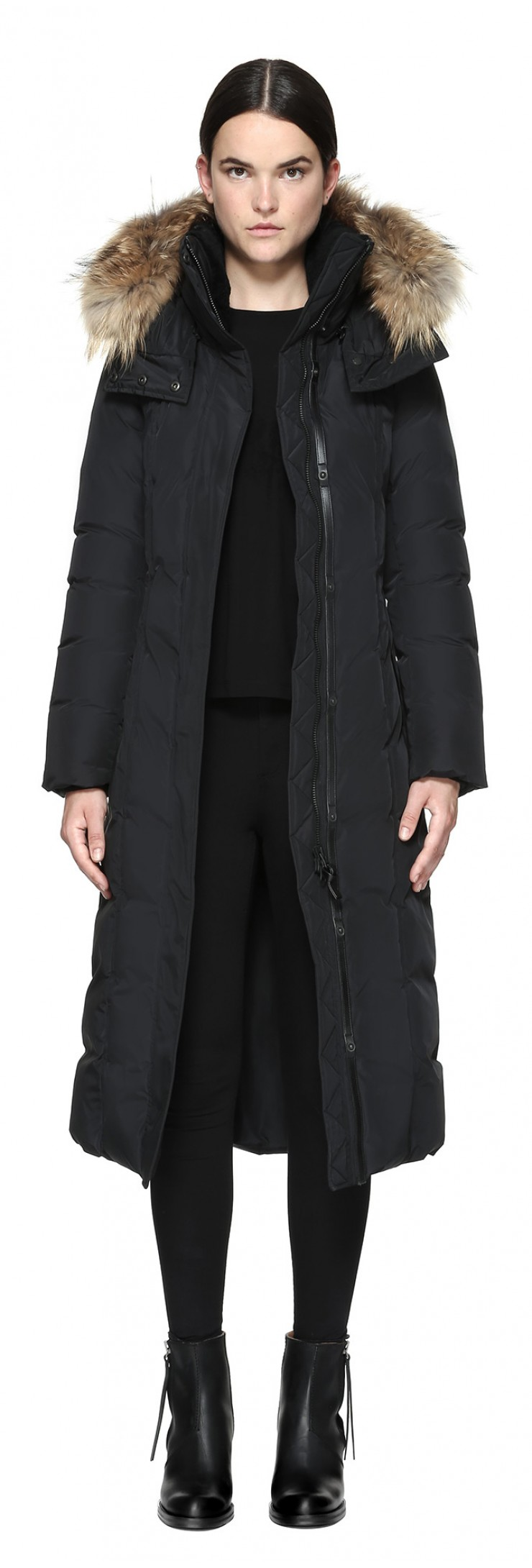 c077a679d Mackage Jada Maxi Length Winter Down Coat With Sheepskin - Womens