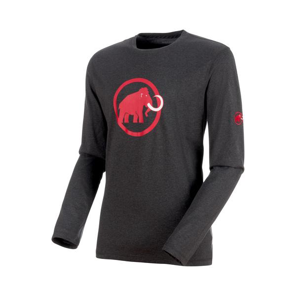 XXL Dark Teal Melange Mens Mammut Logo Longsleeve 1041-07081-4999-117